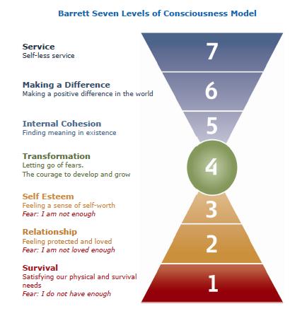 Barrett 7 levels of consciousness model